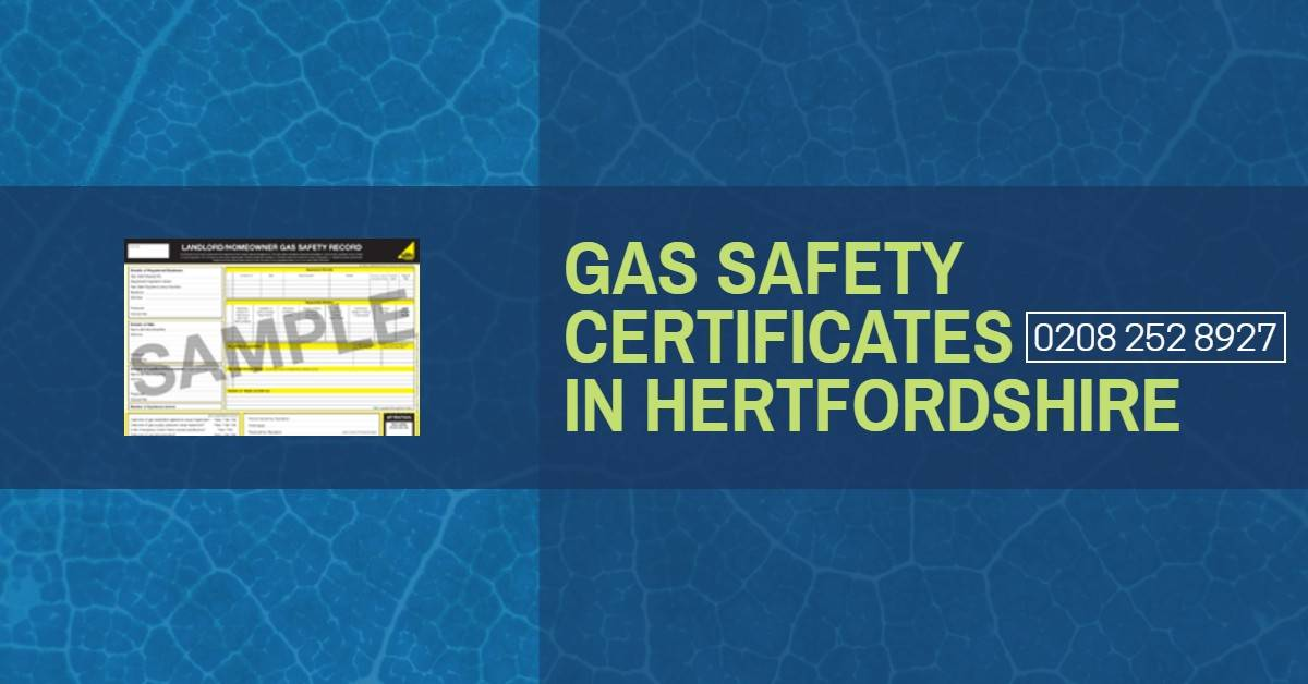 Commercial Gas Safety Certificate Hertfordshire