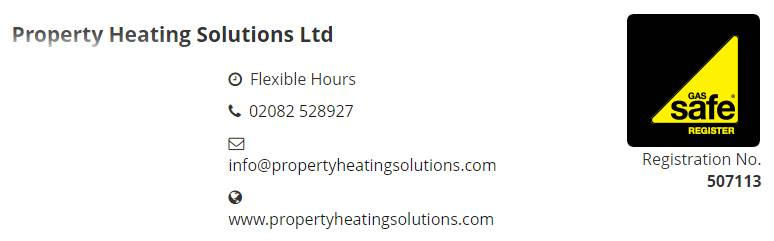 507113 - Property Heating Solutions Ltd