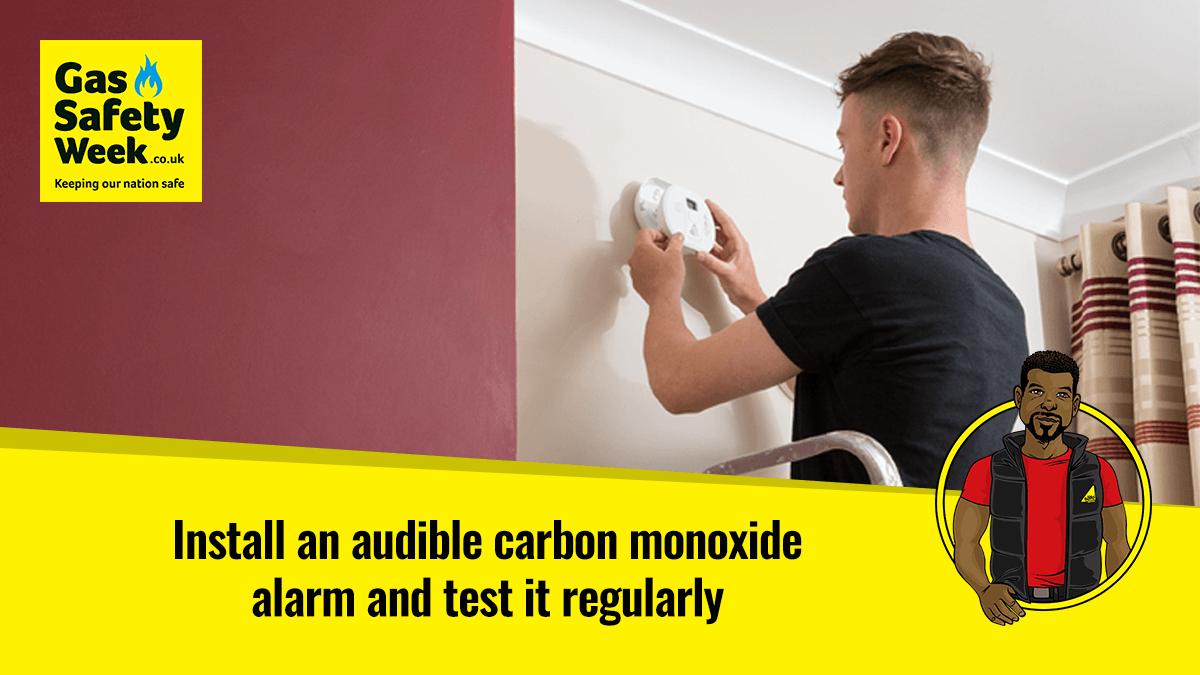 Install a CO alarm